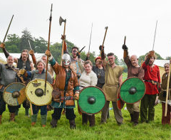 saxon warriors ready for battle
